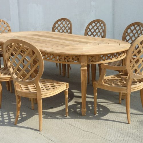 Teak Josephine Table and Chairs