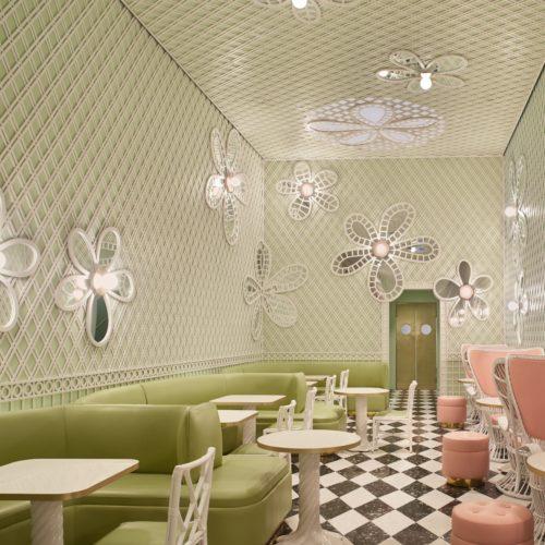 Interior Decorative Treillage- LaDuree- Beverly Hills