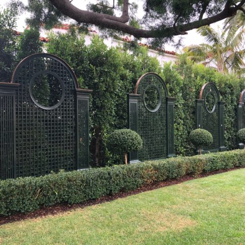 Beautiful Garden with custom treillage decor