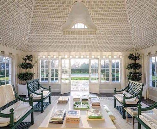 Interior of a sun room